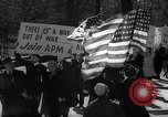 Image of American Peace Mobilization anti-war march in World War 2 Washington DC USA, 1941, second 37 stock footage video 65675053289