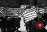 Image of American Peace Mobilization anti-war march in World War 2 Washington DC USA, 1941, second 38 stock footage video 65675053289