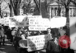 Image of American Peace Mobilization anti-war march in World War 2 Washington DC USA, 1941, second 40 stock footage video 65675053289