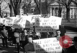 Image of American Peace Mobilization anti-war march in World War 2 Washington DC USA, 1941, second 41 stock footage video 65675053289