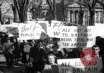 Image of American Peace Mobilization anti-war march in World War 2 Washington DC USA, 1941, second 42 stock footage video 65675053289