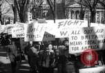 Image of American Peace Mobilization anti-war march in World War 2 Washington DC USA, 1941, second 43 stock footage video 65675053289