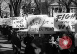 Image of American Peace Mobilization anti-war march in World War 2 Washington DC USA, 1941, second 45 stock footage video 65675053289