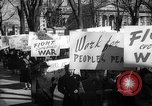 Image of American Peace Mobilization anti-war march in World War 2 Washington DC USA, 1941, second 46 stock footage video 65675053289