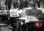 Image of American Peace Mobilization anti-war march in World War 2 Washington DC USA, 1941, second 47 stock footage video 65675053289