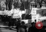 Image of American Peace Mobilization anti-war march in World War 2 Washington DC USA, 1941, second 48 stock footage video 65675053289