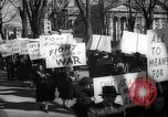 Image of American Peace Mobilization anti-war march in World War 2 Washington DC USA, 1941, second 49 stock footage video 65675053289