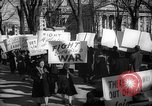 Image of American Peace Mobilization anti-war march in World War 2 Washington DC USA, 1941, second 50 stock footage video 65675053289