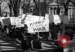 Image of American Peace Mobilization anti-war march in World War 2 Washington DC USA, 1941, second 51 stock footage video 65675053289
