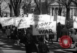 Image of American Peace Mobilization anti-war march in World War 2 Washington DC USA, 1941, second 52 stock footage video 65675053289