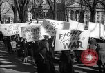Image of American Peace Mobilization anti-war march in World War 2 Washington DC USA, 1941, second 53 stock footage video 65675053289