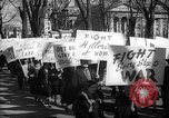 Image of American Peace Mobilization anti-war march in World War 2 Washington DC USA, 1941, second 54 stock footage video 65675053289