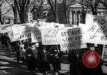 Image of American Peace Mobilization anti-war march in World War 2 Washington DC USA, 1941, second 57 stock footage video 65675053289