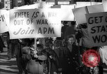Image of American Peace Mobilization anti-war march in World War 2 Washington DC USA, 1941, second 58 stock footage video 65675053289