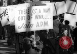 Image of American Peace Mobilization anti-war march in World War 2 Washington DC USA, 1941, second 59 stock footage video 65675053289