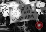 Image of American Peace Mobilization anti-war march in World War 2 Washington DC USA, 1941, second 60 stock footage video 65675053289