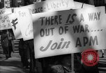 Image of American Peace Mobilization anti-war march in World War 2 Washington DC USA, 1941, second 61 stock footage video 65675053289