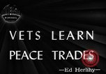 Image of Canadian World War 2 veterans learning trades Toronto Ontario Canada, 1945, second 3 stock footage video 65675053385