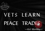 Image of Canadian World War 2 veterans learning trades Toronto Ontario Canada, 1945, second 4 stock footage video 65675053385