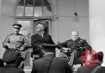 Image of Franklin Roosevelt at Tehran Conference Tehran Iran, 1943, second 19 stock footage video 65675053420