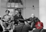 Image of Franklin Roosevelt at Tehran Conference Tehran Iran, 1943, second 21 stock footage video 65675053420