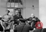 Image of Franklin Roosevelt at Tehran Conference Tehran Iran, 1943, second 22 stock footage video 65675053420