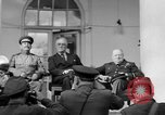 Image of Franklin Roosevelt at Tehran Conference Tehran Iran, 1943, second 23 stock footage video 65675053420