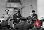 Image of Franklin Roosevelt at Tehran Conference Tehran Iran, 1943, second 25 stock footage video 65675053420