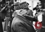 Image of Adolf Hitler shaking hands with Petain in Montoire France, 1940, second 27 stock footage video 65675053449