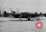Image of P-61Black Widow aircraft of 422nd Night Fighter Squadron United States USA, 1944, second 15 stock footage video 65675053488