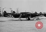 Image of P-61Black Widow aircraft of 422nd Night Fighter Squadron United States USA, 1944, second 16 stock footage video 65675053488