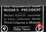 Image of Mikhail Ivanovich Kalinin Moscow Russia Soviet Union, 1924, second 1 stock footage video 65675053622