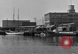 Image of Curtis Boat & Engine Corp on riverfront Norfolk Virginia United States USA, 1932, second 22 stock footage video 65675053626