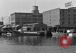 Image of Curtis Boat & Engine Corp on riverfront Norfolk Virginia United States USA, 1932, second 27 stock footage video 65675053626