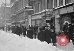 Image of snow covered roads Moscow Russia Soviet Union, 1920, second 10 stock footage video 65675053629