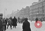 Image of snow covered roads Moscow Russia Soviet Union, 1920, second 18 stock footage video 65675053629