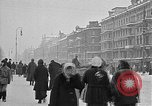 Image of snow covered roads Moscow Russia Soviet Union, 1920, second 21 stock footage video 65675053629