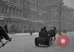 Image of snow covered roads Moscow Russia Soviet Union, 1920, second 24 stock footage video 65675053629