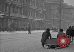 Image of snow covered roads Moscow Russia Soviet Union, 1920, second 27 stock footage video 65675053629