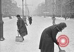 Image of snow covered roads Moscow Russia Soviet Union, 1920, second 40 stock footage video 65675053629