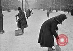 Image of snow covered roads Moscow Russia Soviet Union, 1920, second 42 stock footage video 65675053629