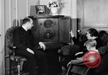 Image of British citizens listen to radio broadcasts London England United Kingdom, 1936, second 53 stock footage video 65675053653