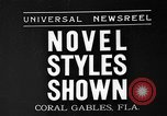 Image of fashion show Coral Gables Florida USA, 1935, second 1 stock footage video 65675055057