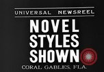 Image of fashion show Coral Gables Florida USA, 1935, second 5 stock footage video 65675055057
