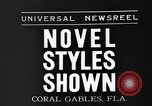 Image of fashion show Coral Gables Florida USA, 1935, second 6 stock footage video 65675055057