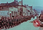 Image of German troops marching to surrender to Western Allies Pilsen Czechoslovakia, 1945, second 10 stock footage video 65675055608