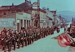 Image of German troops marching to surrender to Western Allies Pilsen Czechoslovakia, 1945, second 11 stock footage video 65675055608