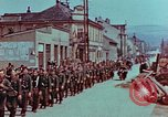 Image of German troops marching to surrender to Western Allies Pilsen Czechoslovakia, 1945, second 13 stock footage video 65675055608