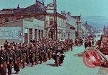 Image of German troops marching to surrender to Western Allies Pilsen Czechoslovakia, 1945, second 16 stock footage video 65675055608