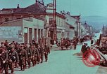 Image of German troops marching to surrender to Western Allies Pilsen Czechoslovakia, 1945, second 31 stock footage video 65675055608